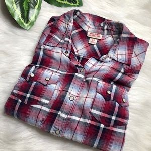 Red Plaid Western Button Down MOSSIMO SUPPLY